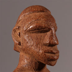 Lobi Bateba Phuwe Statue on a Wooden Base - LOBI - Gaoua Region, Burkina Faso