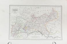 Central Germany; Malte-brun - Prussia - 1834