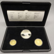 The Netherlands - ducats set 1989 (3 pieces in set) - silver and gold