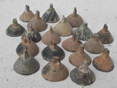 Early medieval bronze horse tack decoration bells (19) - 22-18 mm