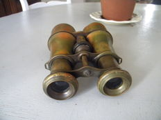 Military binocular WW1 - copper and brass camouflaged
