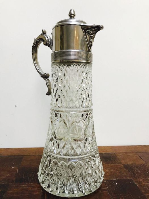 Large silver-plated claret jug