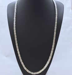 Sterling silver (925) - King's braid link necklace - 79 cm