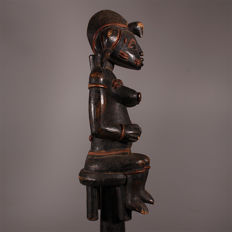 Ancient sculpted cane 110 cm - SENUFO - Ivory Coast