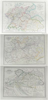 Germany, Austria; Malt-brun - 3 maps - 1835