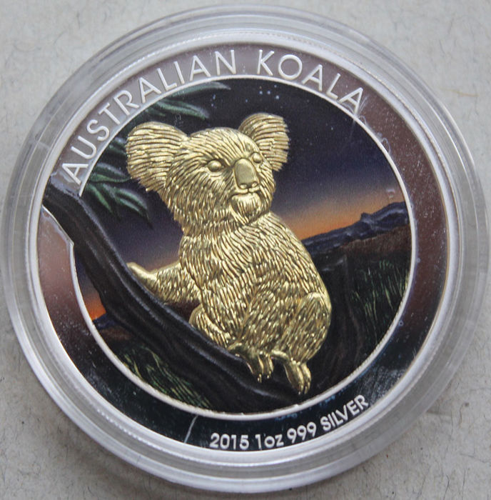 Australia - Dollar 2015 'Koala' colorized - 1 oz sIlver
