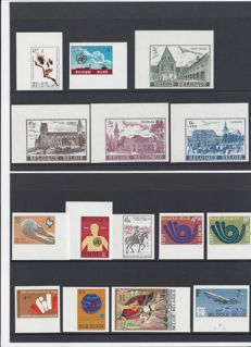 Belgium 1973 - Complete year of imperforate stamps with number on the back - OBP 1660/1700