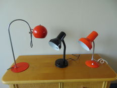 Unknown designer - Three table lamps.