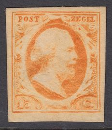 The Netherlands 1852 – King Willem III first emission – NVPH 3c, with inspection certificate