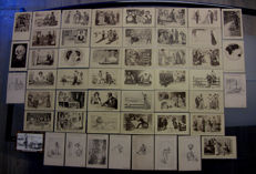 Lot of 50 extremely rare postcards - James Henderson & Sons Ltd and C. D. Gibson's 1886-1922 + Original binder for 100 postcards