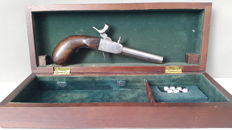 French percussion travel gun in very good condition.
