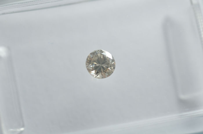 Light Grey Brown Diamond Brilliant Cut - 0.16 ct IGI Certificate No Reserve Price