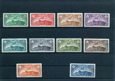 San Marino 1931 - Airmail, San Marino landscape, complete series of 10 values - Sassone No.   500