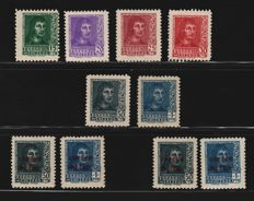 Spain 1938 - Fernando il Cattolico and Historical Monuments - Edifil 841/844, NE58/59, 845/846, 845a/846a, 847/848, SH847, SH848.