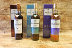 Macallan 12 YO, 15 YO Fine Oak Triple Cask & 18 YO Fine Oak Triple Cask in original boxes