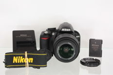 Nikon D3100 with Nikon objectief AF-S 18-55mm f3.5-5.6 - (2655)