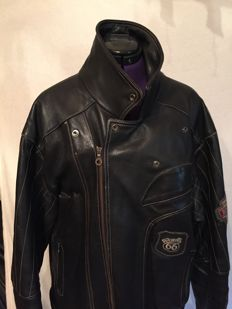Beautiful Route 66 motorcycle leather jacket - ca. 1990