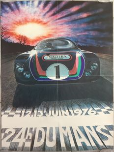 Original French poster of the 24 hours of Le Mans - 1976