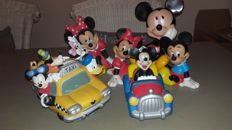 Disney - 6 Piggy banks - Mickey & Minnie Mouse and others (1980/1990)