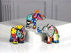 Romero Britto - 3 Elephants Collection