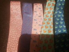 Hermes - 5 x Silk Ties
