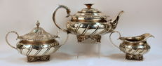 A George IV Sterling Silver Tea Service Set - John James Keith - London - 1825