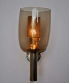 Hans-Agne Jakobsson for A/B Markaryd - brass glass wall light