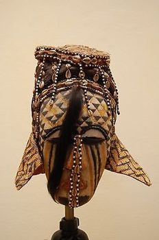 Female mask, ethnic group Kuba Congo