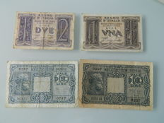 Italy - 34 banknotes 1925-1982