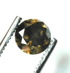 Luxury - 2.31 ct - Ideal cut - Vivid fancy dark brown VS2 - Laser inscription - No reserve price