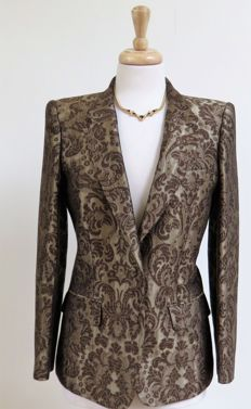 Roberto Cavalli - Brocade Patterned Blazer Jacket