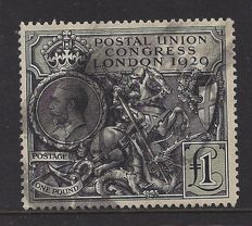 Great Britain 1929 - £1 PUC, Stanley Gibbons 438