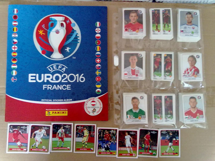 Panini - Football Euro 2016 France - incomplete set 630 stickers + empty album + Cola A to H stickers.