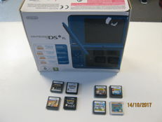 DSi xl version boxed including 8 games like: Pokemon White , Pokemon Black, Pokemon Alpha Sapfire and more