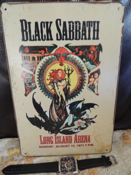 Stunning Black Sabbath - At Log Island Arena - Metal Concert Sign - Guns Roses Wrist Watch - Collectors Item -