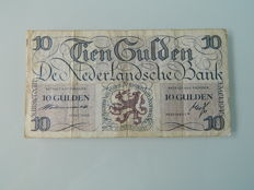 The Netherlands - 10 gulden 1945 - mevius 45-1a
