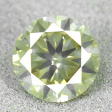Diamond – 1.00 ct, Si1 – Natural Fancy Grayish Yellow