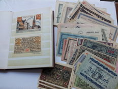 Germany - Emergency currency notes 146 pieces