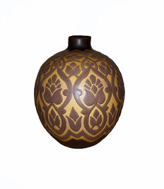 "Charles Catteau, Grès-Keramis , ""one-of-a-kind"" earthenware vase from his private collection"