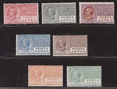 Kingdom of Italy 1917/1927 - the first four airmail issues - Sass. No.   A.1, A.2, S.1501 and S.1502