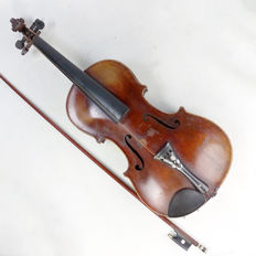 Antique violin & bow - nice Stainer copy - Germany? - circa 1900