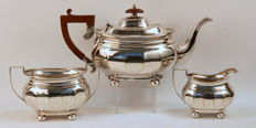 Antique Silver Plate Tea Service Set, Circa.1930's