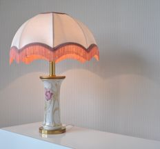 Kaiser Exclusiv - Porcelain / brass table lamp, Germany, ca. 1970