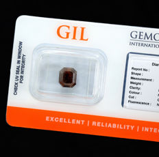Diamond - 2.76 ct, NO RESERVE PRICE – Natural Fancy Dark Reddish Orange, i3