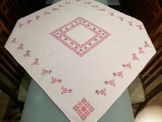 Handmade tablecloth Cross stitch. Like new