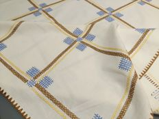 Italy Squared handmade tablecloth Cross stitch