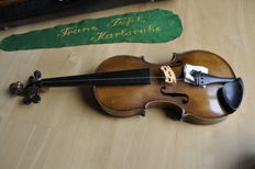 violin with label Panormo Vinzenzo Panormo 1792