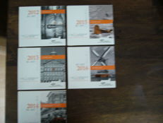 The Netherlands – year collections 2012, 2013, 2014, 2015 and 2016 'National collection' (5 pieces)