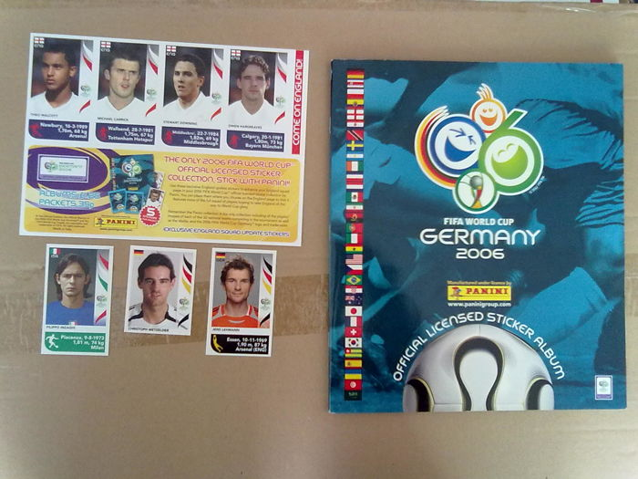 Panini - Football World Cup Germany 2006 - complete album + updated stickers.