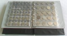 World - batch of various coins (approx. 1030 coins) in three albums